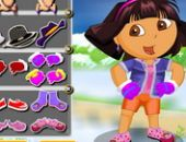 Dora L'Hiver Explorer Dressup