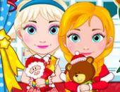 Elsa Et Anna, Les Bébés De Noël Jeu