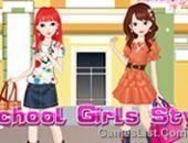 L'École De Filles De Style Jeu