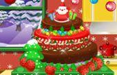 Gâteau de Noël glacé